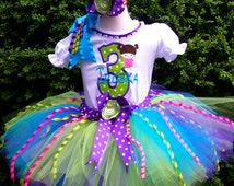 Fancy Monster Inc Boo Birthday Tutu Set, Customize Number, Name, Color, Theme...Corset top available