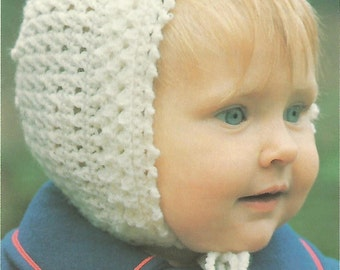 Beautiful Bonnet Crochet Pattern No 27  Instant Download