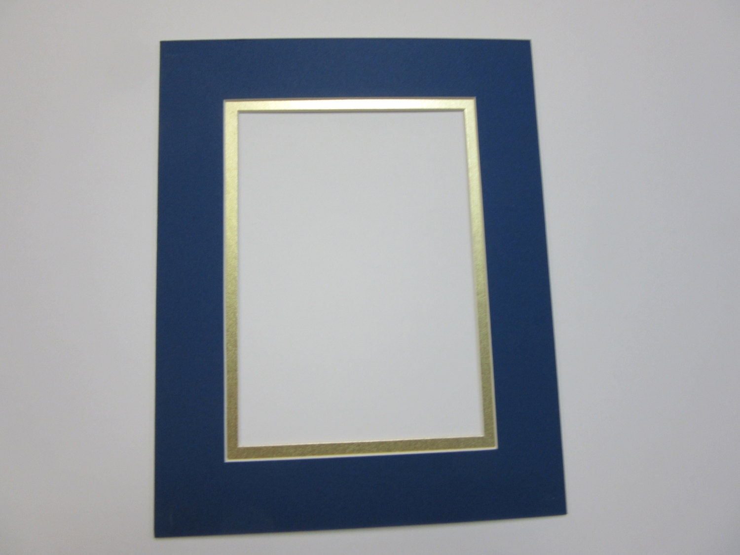 Picture Frame Mat Royal Blue With Gold Liner 8x10 For 5x7