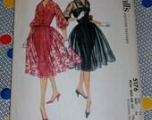 "1959 Vintage McCalls Pattern 5176 Misses Sexy Party Dress Size 16, Bust 36"", Hip 38"", Waist 28"""