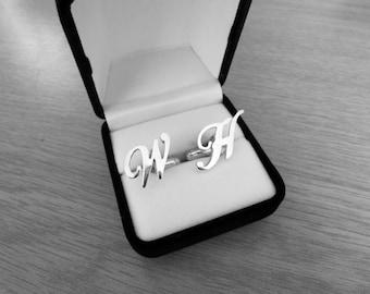 Cufflinks mens cufflinks groomsman gift groomsmen gift best man gift groom gift wedding cuff links sterling silver cufflinks