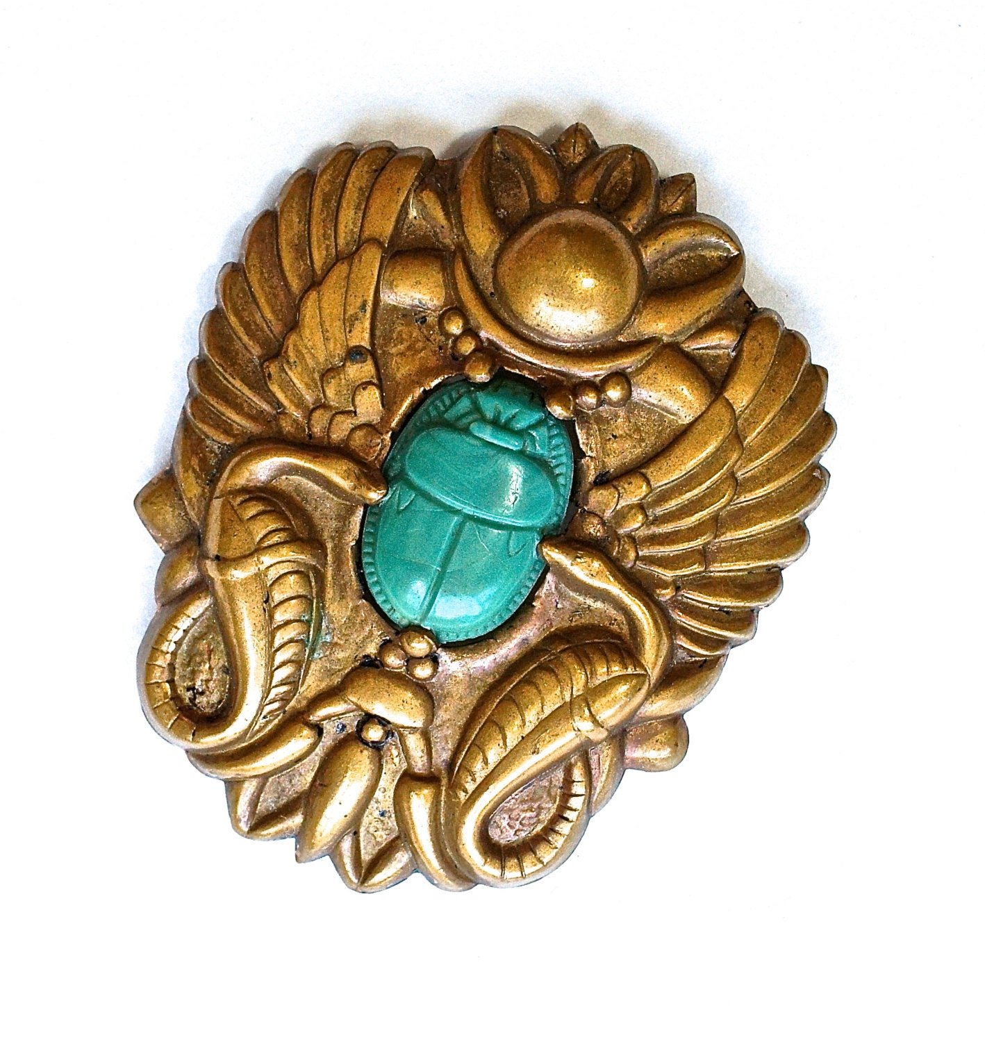 Egyptian Revival Winged Scarab Beetle Brooch by ...