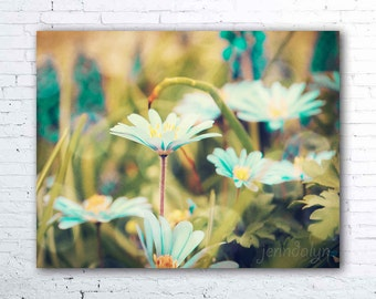 Fairy Realm - fine art photograph, flower photography, blue green botanical print, girls room decor, fine art print, floral wall art