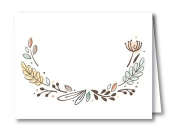 Fill-in Tent Sign, Table Food Sign, Baby Shower Party Décor // WOODLAND WONDER