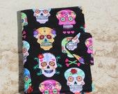NEW! Organizer, Notepad Case, Candy Skulls, Ready To Ship!