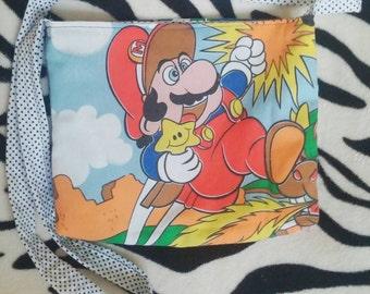 Super Mario upcycled Super Nintendo Large tote style bag