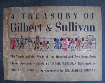 Vintage 1940's Music Book - A Treasury Of Gilbert & Sullivan