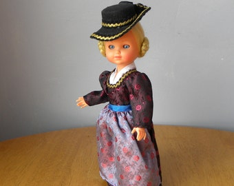 "Vintage 9.5"" German Doll - Vintage Celluloid Doll - 1950's Doll"