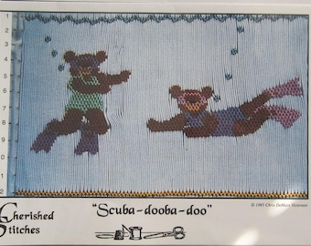Smocking Plate - Scuba-dooba-doo by Cherished Stitches Chris DeMars Victorsen (book 5)