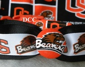 Dog Collar Oregon State University Beavers OSU Sports Team Adjustable Collars D Ring Handmade Choose Size Accessory Pet Accessories