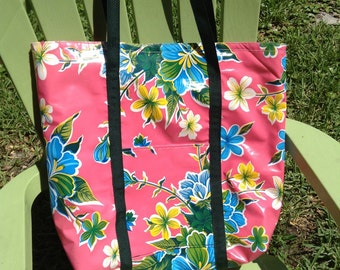 Oilcloth tote extra large
