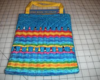 Children's Coloring Book Bag