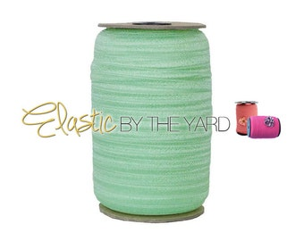 "Cool Mint - 100 Yard Roll - Fold Over Elastic - 5/8"" Wide Bulk Wholesale FOE"