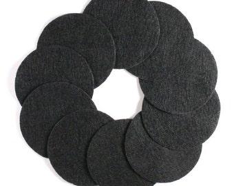 "2 1/2"" Black NON Adhesive Felt Circles 10 Pack"
