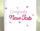 Funny Baby Card Congrats On The New Job Shower/Newborn/New Baby Card