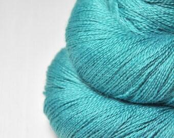 Too much turquoise eyeshadow OOAK - BabyAlpaca/Silk Lace Yarn
