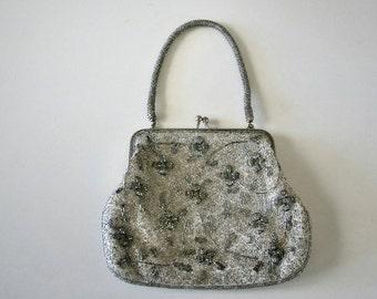 Vintage Beaded Handbag, Micro  Glass Beads, Japan
