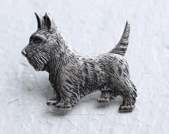Terrier Brooch ... Vintage Dog Highland Aberdeenshire Brass