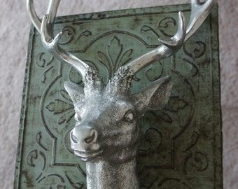 Silver deer wall Home decor