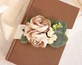 50% off marked price use code DIS50 - Rustic Wedding Sash, Flower Sash, Champagne Wedding Sash, Champagne Flowers, Woodland Sash