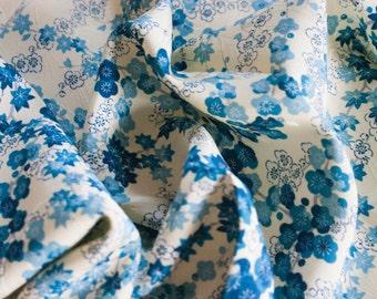Plum and Maple  - Vintage Kimono Silk Fabric (28.1 x 14.1 inches)