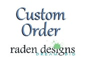 RESERVED Custom Earth Beads
