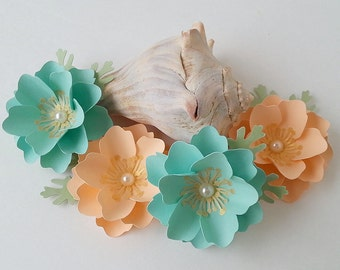 Paper Flowers - Wedding Decorations -Table Decor - MIni Elizabeth Rose - Any Color - Table Decorations - Made To Order