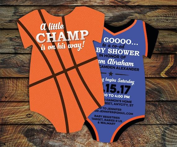 Italian Boy Name: 10 Basketball Baby Shower Invitations All Star Invitation