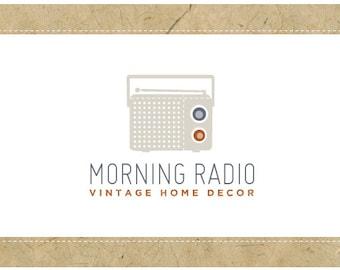 Custom Logo Design - PreDesigned Logo - PreMade Logo - Vector Logo - OOAK Logo - MORNING RADIO Logo Design - Vintage Radio - Vintage Logo