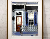 New Orleans French Quarter Shotgun House Art, French Quarter House with Wrought Iron Print, Signed & Numbered, Limited Edition Print