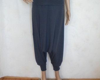 harem pant drop crotch pant oriental pant thai harem hippie pants  boho pants plus size maternity burning man festival pant yoga pants