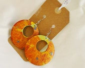 Abstract Earrings Hand Painted