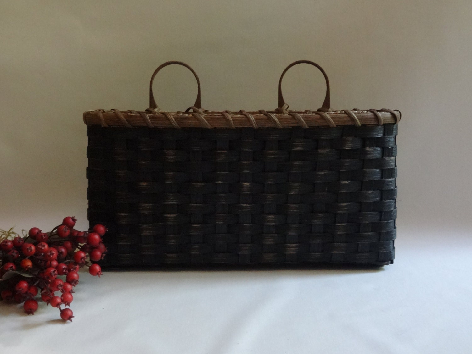 Large wall basket wall decor handwoven basket primitive style - Decorative basket wall art ...