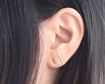 Ear Bar Earring COMBO, Gold Filled, Bar Post Earrings, Line Earrings, Stud Earrings, Minimalist, Gift, COM001