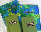 Set Groovy 70s Photo Album ~ Satin Daisies & Green Tweed ~ Family Pictures