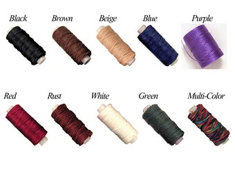 Hand Stitching Options for Earthly Leather Design Belt Pouches and Parasol Holders