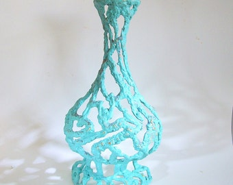 Mid Century Wall Vase Art / Brutalist