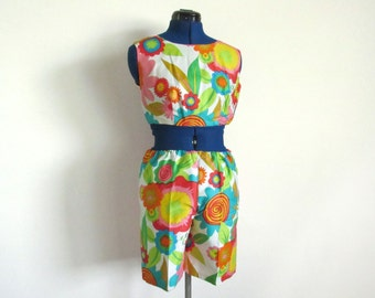 Vintage Two-Piece Summer Beach Set by Paradise Hawaii, Small or Medium