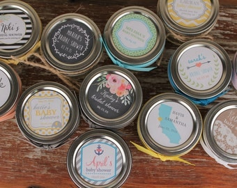 36 - Mason Jar Labels // 2 Inch Round Labels - Fit 4oz or 8oz Regular Mouth Jars // Design of your choice