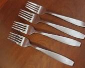 Vintage Flatware Stainless CAMBRIDGE matte finish stainless silverware BIN 5