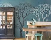 Wall Stencil - Large Bare Tree - DIY wall decor stencils