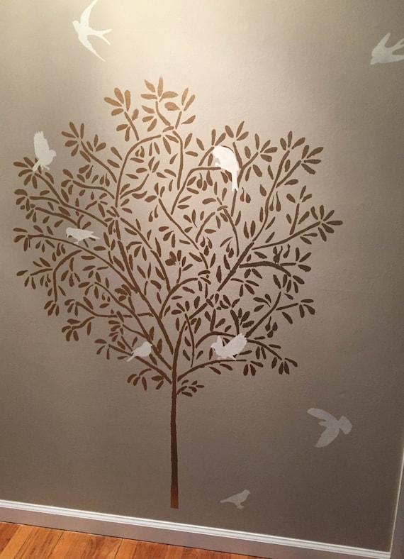 pochoir mural grande olive tree pochoir
