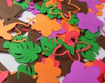 150 Tiki Luau Confetti Pack:  Custom Luau Confetti, Scrapbooking, Beach Weddings, Table Decor