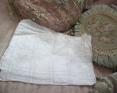 Fabulous Set Vintage Ivory Linen Drawnwork Placemat Set 4 Pc Ivory Embroidered  X21