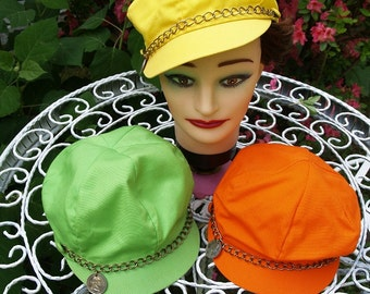 Vintage 80's style Yellow Hat