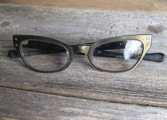Glasses Frames Eyebrows : Vintage Eyebrow Frame Cateye Glasses