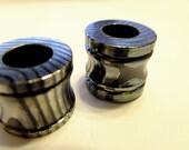 Titanium and Zirconium Bead --  Mokume Mixed Metal