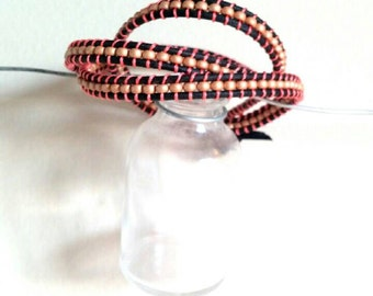Wrap Bracelet in Pink and Gold