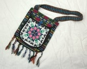 Vintage Rainbow Fringed Pouch Purse