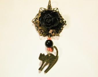 Victorian Witch's Halloween Pendant